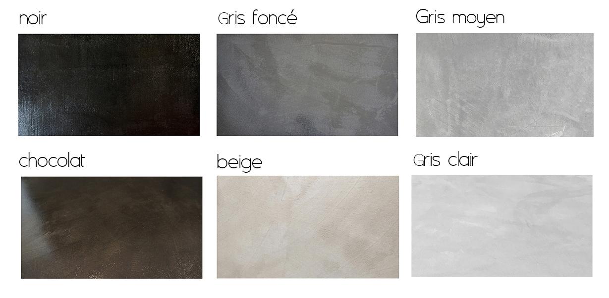 couleur du beton